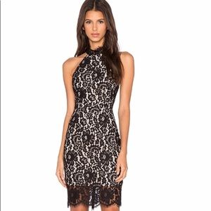 NWT Keepsake Black One Night Lace Dress (Medium)